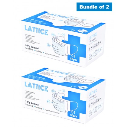 3-Ply Surgical Face Mask Ear Loop - 2 Boxes